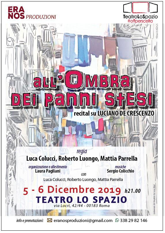 All'ombra dei panni stesi - TeatroLoSpazio - dal 5 al 6 dicembre 2019 - Via Locri 42 00183 Roma