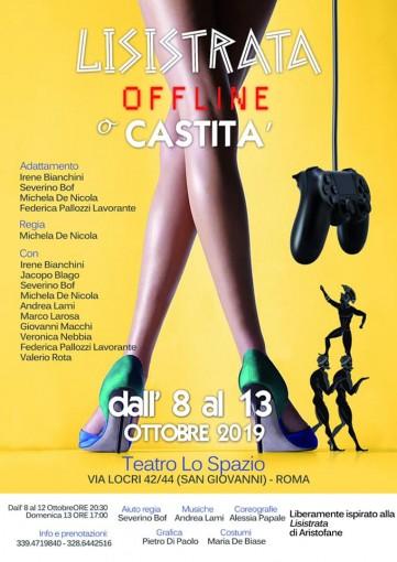 Lisistrata, offline o castità - TeatroLoSpazio - dall'8 al 13 ottobre 2019