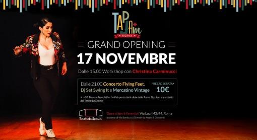 TapJam - teatrolospazio - 17 novembre 2019 - via locri 42 roma - 00183