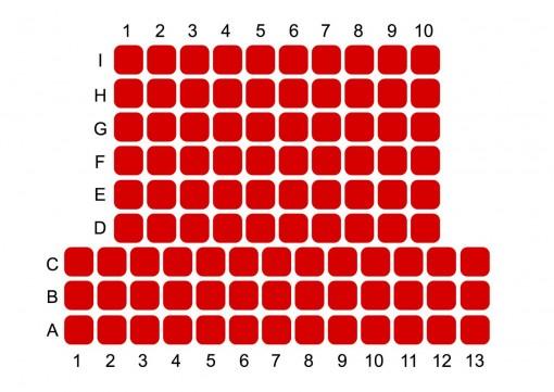 TeatroLoSpazio - pianta sala grande - Via Locri 42 - Roma