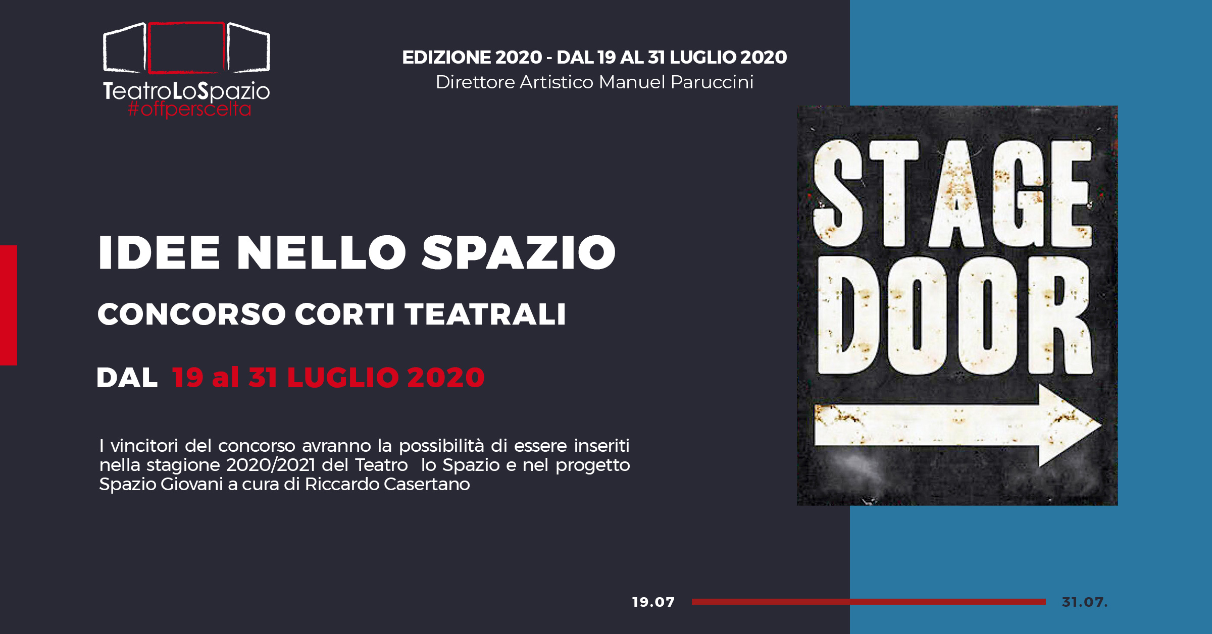 TeatroLoSpazio - Concorso Corti Teatrali Idee nello Spazio - Via Locri 42, Roma
