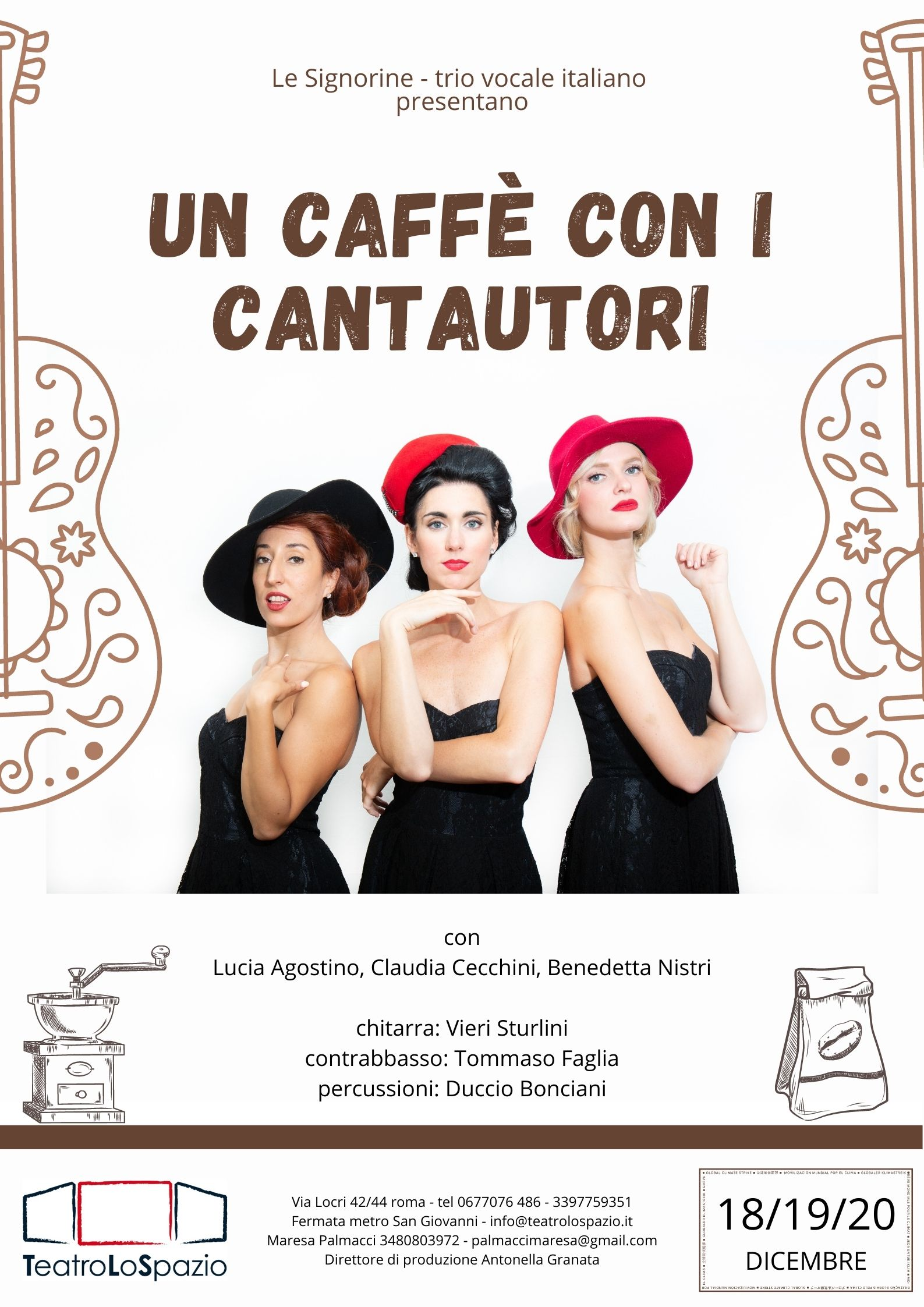 un caffè con i cantautori - TeatroLoSpazio