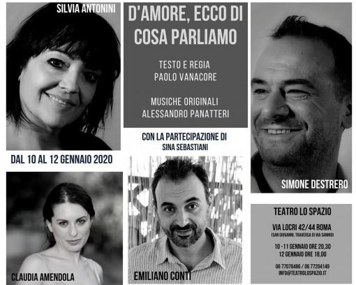 D'amore ecco di cosa parliamo - TeatroLoSpazio - dal 10 al 12 gennaio 2020 - Via Locri 42 00183 Roma